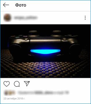 Фото с освещением Instagram