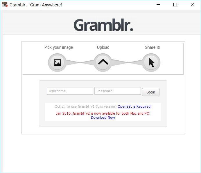 Главная страница Gramblr
