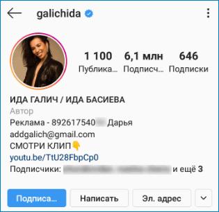 Ида Галич Instagram