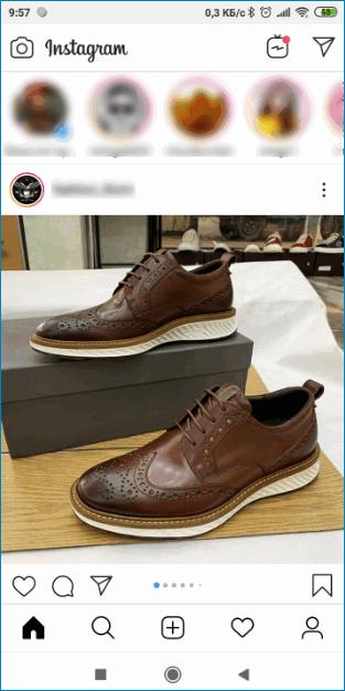 Лента новостей в Instagram