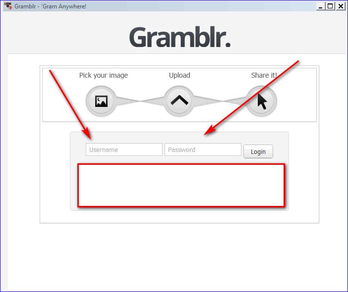 Окно авторизации Gamblr