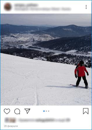 Снимок на фоне гор Instagram